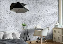 fabulous impact wall art from eazywallz transforms your personal space white brick mural easywallz