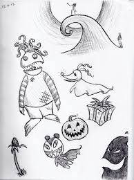 doodles nightmare before christmas by smartallecsquirrel on