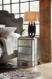 hooker furniture bedroom arabella mirrored three drawer nightstand