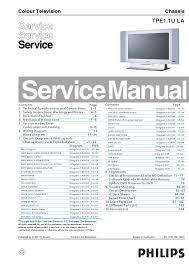 manual de serviço do televisor philips modelo 26md251d chassis