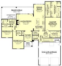 european style house plan 3 beds 2 50 baths 2217 sq ft plan 430