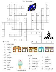 en la ciudad crossword 2 u2013 printable spanish