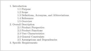 software engineering 3 3 3 structure of a requirements document