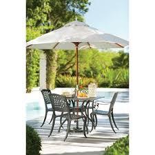 Patio Table With Umbrella Metal Patio Furniture