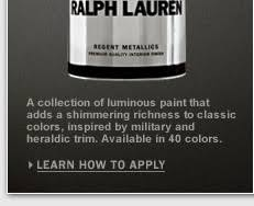 ralph lauren paint regent metallics ralphlaurenhome com