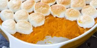 cuisiner patates douces gratin de patates douces aux marshmallows recettes femme actuelle
