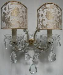 Crystal Wall Sconces by Pair Of Italian Antique Maria Theresa Crystal Wall Sconces With