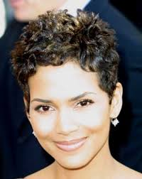 back view of halle berry hair halle berry pixie cuts halle berry pixie curly short and short