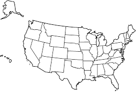 us map of states to color usa map california highlighted flag