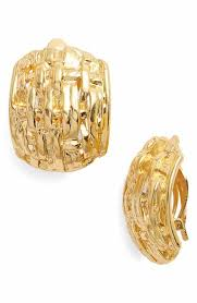gold clip on earrings women s clip on earrings nordstrom
