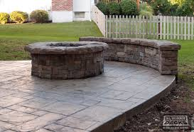 Patio Firepits Leeder Cedar Deck In Kansas City With Sted Concrete Patio And