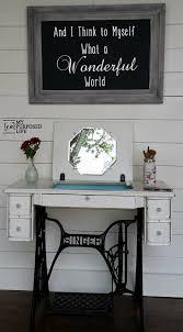 Singer Sewing Machine Desk Singer Sewing Machine Myrepurposed Life