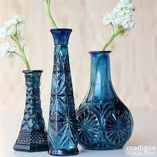 Dark Blue Glass Vase Vases Design Ideas More Beautifully Idea Painted Vases How To