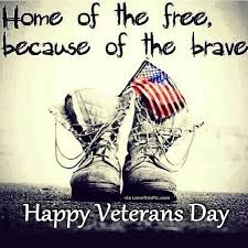 Veterans Day Meme - home of the free because of the brave happy veterans day