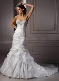 organza sweetheart neckline mermaid wedding dress fashion fuz