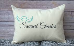 memorial gifts for loss of personalized rememberance pillow angel baby memorial gift