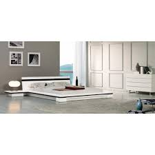 Bed With Attached Nightstands Contemporary U0026 Luxury Furniture Living Room Bedroom La Furniture