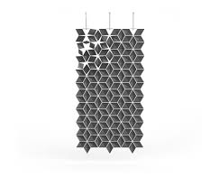 hanging room divider facet graphite space dividers from