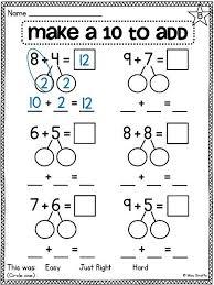 first grade math unit 10 fact fluency first grade worksheets