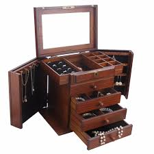 jewelry necklace case images Rowling wooden extra large jewelry box jewellery lock cabinet jpg
