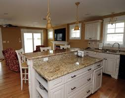 granite countertop gray shaker kitchen cabinets commercial range