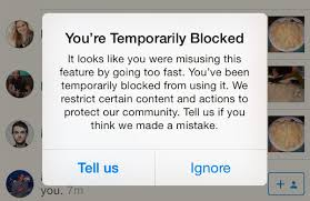 How To Block Be Like - instagram follow and like block issue and solutions 123 accs