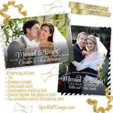 Newlywed Cards Newlywed Christmas Cards Married U0026 Bright Printed 2015 Holiday