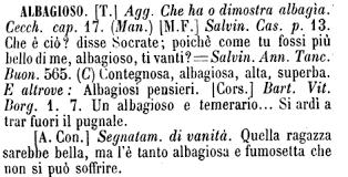 dizionario albagioso