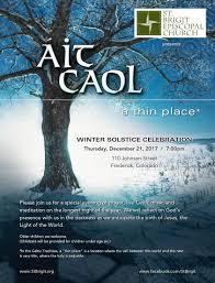 st brigit episcopal church to celebrate winter solstice st