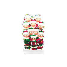 10 family tangled in lights family ornament personalized