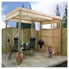 contemporary wooden garden shelter yards pinterest tesco