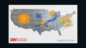 Florida Weather Map Today by Election Weather Forecast Cnn Video