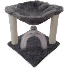Trixie Cat Hammock by Amazon Com Furhaven Pet Tiger Tough Plush Hammock Silver Pet