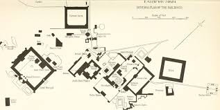 general plan of buildings at fatehpur sikri a city in the agra