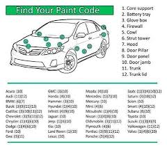 find auto touch up paint codes u2013 the auto paint depot