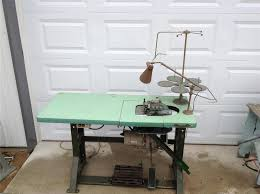 Commercial Fabric Cutting Table Overlock Sewing Machine Ebay