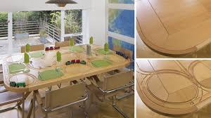 Make Wooden Toy Train Track by Wooden Train Dining Table Redefines Playing With Your Food