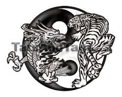 and tiger yin yang temporary designs by custom tags