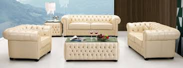 Modern Italian Leather Sofa Ivory Italian Leather Sofa Set With Buttons Raleigh Carolina