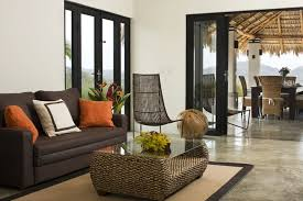 Incredible Leather Settee Sofa Better Housekeeper Blog All Things Palm House Exquisite Exotic Villa Minutes Homeaway Tamarindo