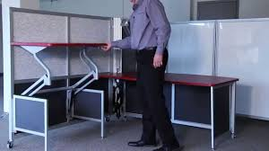 Stand Up Sit Down Desks by Mobile Collapsible Workstations Rolling Fold Up Desks Temporary