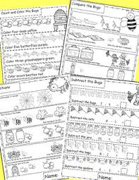 and insects math worksheets end of the year activities math