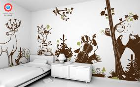 forest animals kids wall decals forest theme nursery or kids room