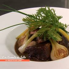 cote cuisine julie andrieu recettes bœuf bourguignon de thierry marx julie andrieu