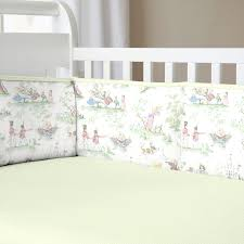Mini Crib Bed Skirt by Sage Green Nursery Rhyme Baby Bedding Collection Carousel Designs