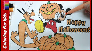 halloween coloring pages how to color disney halloween mickey