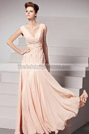 pearl pink floor length v neck formal dress evening prom gown