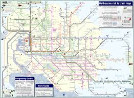 Muni Route Map by Melbourne Australia Public Transportation Map Melbourne
