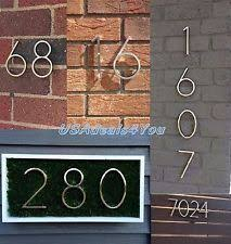 address home decor numbers metal home décor plaques signs ebay