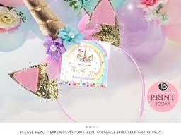 favor tags rainbow unicorn favor tag rainbow unicorn gift tags square